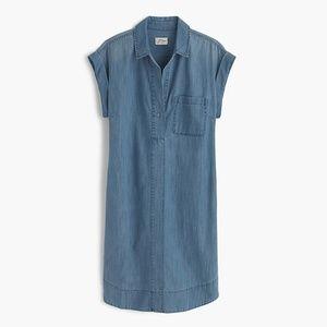 JCrew Short-sleeve chambray shirtdress Size M EUC